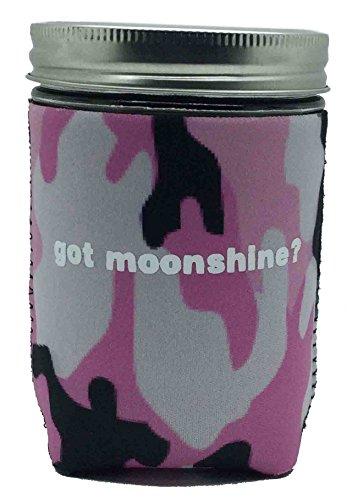(1 pint, Pink Camo) - Jar-z GotMoonshinePCamoP Mason Jar Jacket, 1 pint, Pink Camo