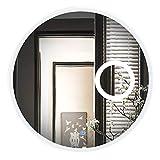 NSHNSH Wandspiegel Runder LED beleuchteter Badezimmer-Spiegel Moderne an der Wand befestigte Frisierspiegel mit Lichtern 3X Vergrößerungsglas 3 Größen verfügbar