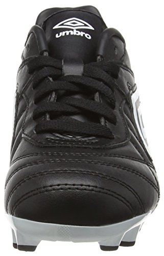 Umbro Speciali Eternal Club Hg-Jnr, Chaussures de Football Garçon Noir (Dju/Black/White/Clematis Blue)