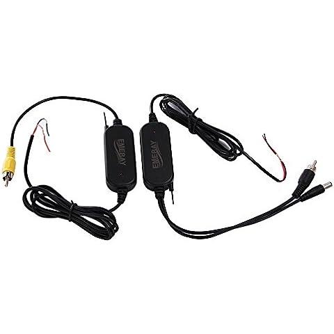 emebay–2.4G transmisor y receptor inalámbrico toma RCA de vídeo en color para la cámara de marcha atrás del vehículo/cámara frontal de