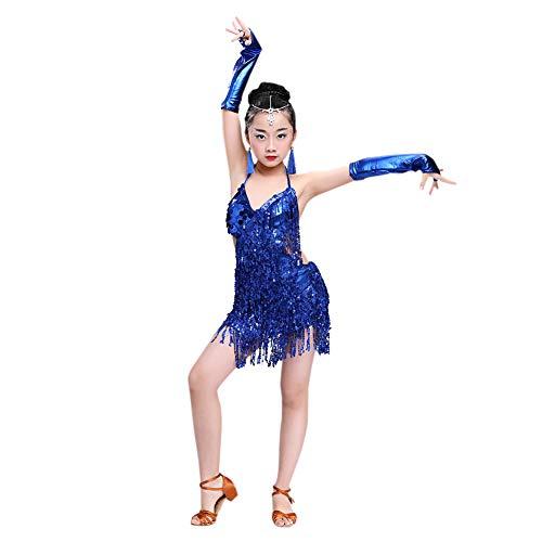 Meijunter gonna da ballo latina - fionda nappa lustrino vestito da ballo salsa samba rumba tango jazz outfits carnevale prestazione costumes