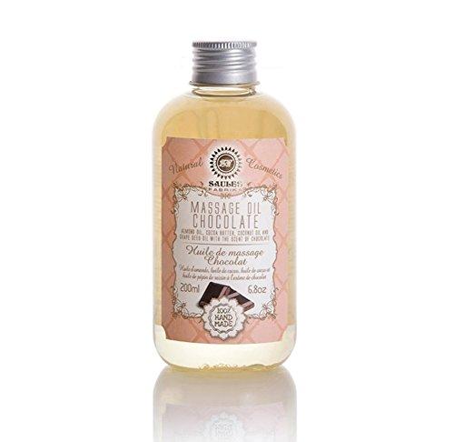 Schokolade Natürlichen Alle (Massageöl - Körperöl für Hautpflege - Kombination aus Süßmandelöl, Kakao Butter, Kokosnussöl, Traubenkernöl - 100 % natürlich für alle Hauttypen 200 ml: Schokolade)