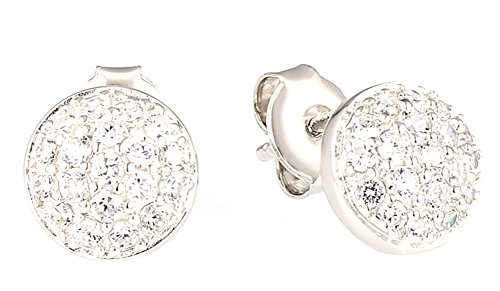 saysure-silver-earrings-for-woman-small-round-white-cz