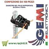 www.gemimarket.it ISOLATORI PALI IN FERRO RECINTI ELETTRICI - Confezione da 100 pezzi