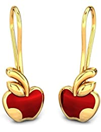 Candere by Kalyan Jewellers 18KT Yellow Gold Drop Earrings for Girls