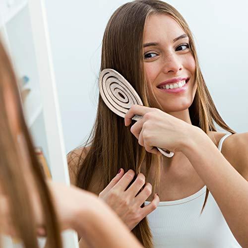Ninabella®️ Bio Haarbürste ohne Ziepen, Profi Entwirrungsbürste, Einzigartige Detangler-Bürste mit Spiralfeder, Anti-Ziep-Haarbruch-Knoten-Spliss-Bürste - 6