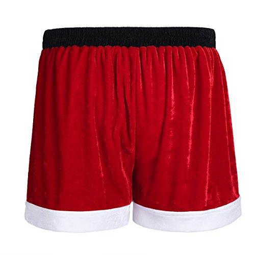 iEFiEL Herren Unterwäsche Boxer Boxershorts Unterhose Männer Weihnachten Unterwäsche (L, Rot (Weihnachtsmann))
