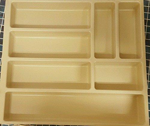 Cuisine Couverts Organiseur Beige tiroir intercalaire bac de rangement 7 compartiments 500 mm