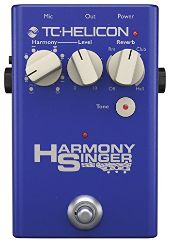 TC Helicon HARMONY SINGER - Pedalera multiefectos, 3 tipos de reverb