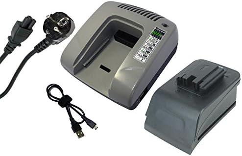 PowerSmart® PowerSmart® PowerSmart® 7.2-18V Power Tools Caricabatterie per MILWAUKEE PJX 14.4 Power Plus, PLD 12 X, PLD 14.4 X, PMS 18, PN 12PP, PN 14.4 Power Plus, PPS 12PP, PPS14.4 Power Plus, PSG 12PP, PSG 14.4 Power Plus, PSH 18, PSH 18X, PSM 12PP, PSM 14.4 Power Plus, P def639