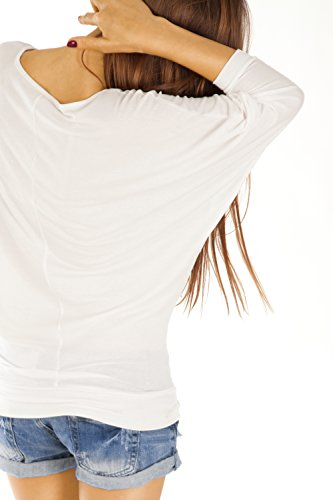 Bestyledberlin Damen Oberteil Longshirt Bluse Tunika Top Fledermausärmel Damenshirt t54p Hellgrau
