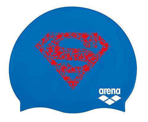 Arena super hero, cuffia unisex – adulto, superman, taglia unica