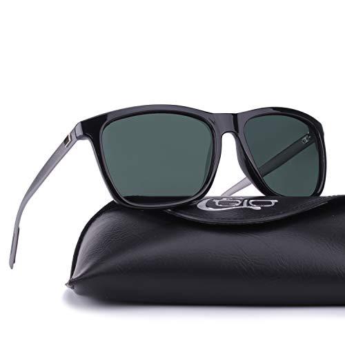 29e690f93290 CGID Square Retro Sport Designer Classic Sunglasses for Men and Women  Polarized Sun Glasses Shades Goggles