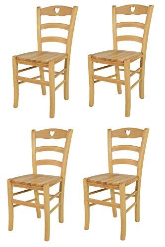 Sedia Classica Cuore Per Cucina E Sala Da Pranzo Con Robusta Struttura E Seduta In Legno Di Faggio Verniciata Ciliegio Tommychairs Lapetiteboite Eu