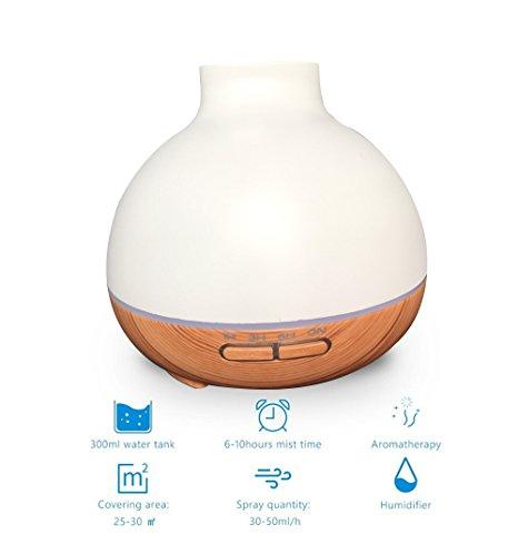 Preisvergleich Produktbild Aromatherapie ätherisches Öl Diffusor Mini Maserung von Brennholz kalt Luftbefeuchter Mute Beseitigung der Geruch von Strahlung ohne Wasser schaltet automatisch die Größe der Nebel verstellbar 400 ml C