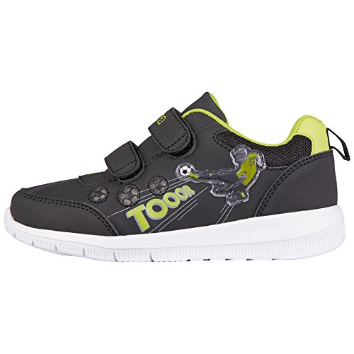Kappa Calcio Kids, Baskets Basses Garçon Noir - Schwarz (1133 black/lime)