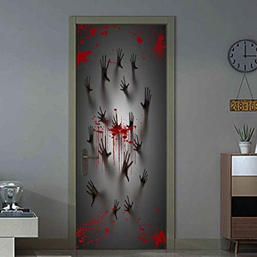 BZLine® Halloween Haunted House Decor Fenster Tür Abdeckung Aufkleber Zombie Hand 78X30 Zoll
