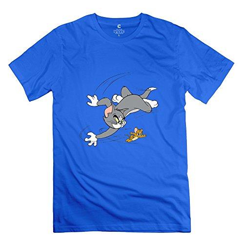 KST Herren T-Shirt Gr. Medium, Blau - Königsblau (Out Fall Boy Simpsons)