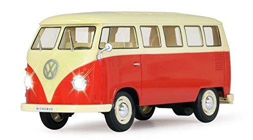 RC Auto kaufen Spielzeug Bild 3: Jamara 405119 - VW T1 Classic Bus 1:16 1963 2 Kanal 2,4GHz - LED, detailgetreuer Innenraum, Fahrzeugdetails in Chrom: Scheibenwischer, Radkappen, Außenspiegel, Türgriffe, Scheinwerfereinfassungen*
