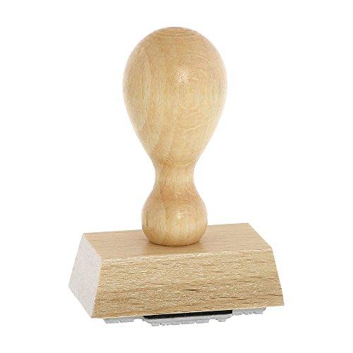 Holzstempel incl. individueller Textplatte 50x30 mm (Firmenstempel, Adressstempel)