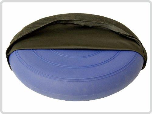 Ballsitzkissen Sitzkissen Kissen Blau inkl. Pumpe und Bezug Ø 36cm,Suedine, schwarz