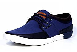 Provogue Mens Navy Canvas Sneakers (PV6011) - 9 UK