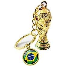 Somedays Regalos de Fútbol Copa del Mundo Llavero de Trofeo de Bandera Nacional Anillos de Llavero