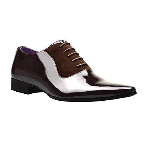 ClassyDude  El0112, Chaussures à lacets homme garçon mixte adulte Marrón - marrón