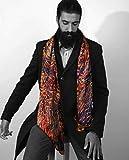 Herrenschal, Bonfire gedruckt Seidenschal, Business Casual Herrenbekleidung, durchdachtes Geschenk für ihn