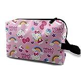 Hello Kitty Trousse da toilette Trucco cosmetico Organizer Bag Accessori da viaggio Articoli personali per ragazze Donna Vacanze