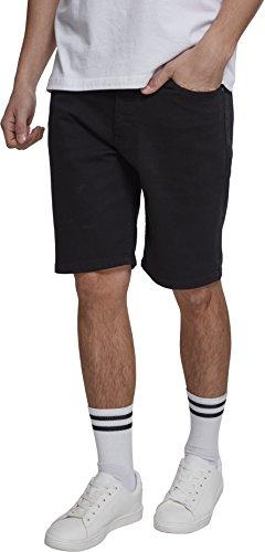 Urban Classics Herren Stretch Twill Men Shorts, Schwarz (Black 00007), Keine Keine Angabe (Herstellergröße: 34) - Stretch Twill-bermuda