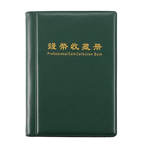 HoganeyVan 120 Pockets Precious Coins Album Collection Booklet Mini Penny Coin Storage Album Collecting Coin Holders for Collectors Gifts (Album Pocket Coin)