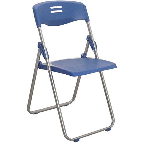 GEXING Klappstuhl / Home Klappstuhl / Computer Freizeit Stuhl / Einfache Bürostuhl / Plastikstühle,Blue-41.5*49*104/79cm