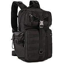 Huntvp Táctical Backpack Mochila de Asalto Mochila de Marcha Molle Militar Gran Bolsa de Hombro Impermeable