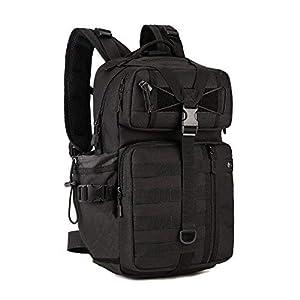 41YhG23b8kL. SS300  - Huntvp 30L Táctical Backpack Mochila de Asalto Mochila de Marcha Molle Militar Gran Bolsa de Hombro Impermeable para Las Actividades Aire Libre Senderismo Caza Viajar