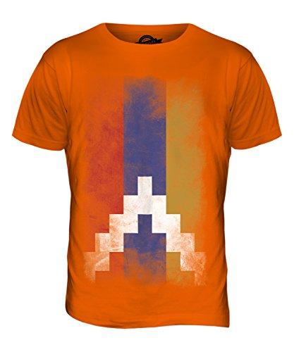 CandyMix Republik Bergkarabach Verblichen Flagge Herren T Shirt Orange