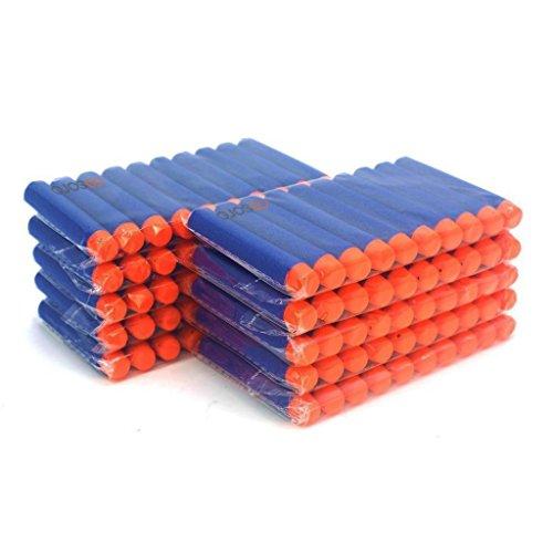 Ennrui 100pz 7.2cm Blu Dardi Schiuma Freccette Cartucce di Ricambio Proiettili per Nerf N-strike serie Elite Blasters giocattolo pistola