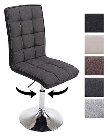 CLP Design Esszimmer-Stuhl PEKING V2 mit Stoff-Bezug, max. belastbar bis 135 kg, gepolstert, Sitz drehbar und höhenverstellbar 41 - 55 cm (Stoffbezug Für Stühle)