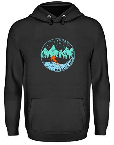 EBENBLATT Ich Hasse Menschen Ski Fahrer Skier Geschenk – Unisex Kapuzenpullover Hoodie