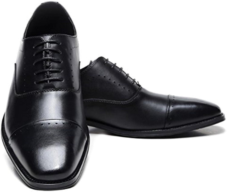 MERRYHE Echtes Leder Brogues Lace up Oxford Für Männer Plain Toe Formale Kleid Schuhe Hochzeit Party Business