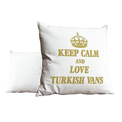Doré Keep Calm and Love turc Vans Blanc Scatter Taie d'oreiller 1896