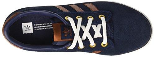 adidas Kiel, Chaussures de Skate Mixte Adulte Bleu (Collegiate Navy/No Color/Ftwr White)