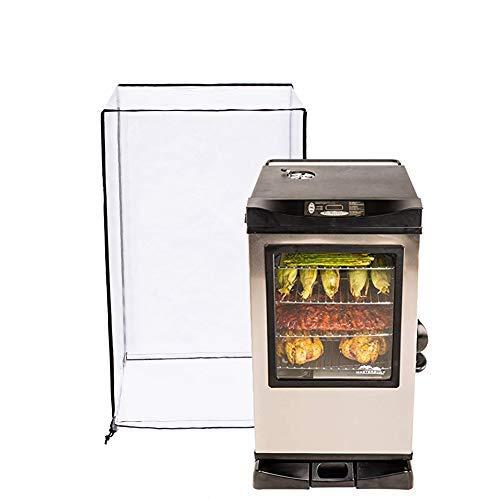Housse de Protection pour fumoir électrique 81,3 cm, très résistante et étanche, pour Grille de Grill, matériau spécial décoloré, Design Velcor Pratique HZC082 L:22x21x41Inches Transparent