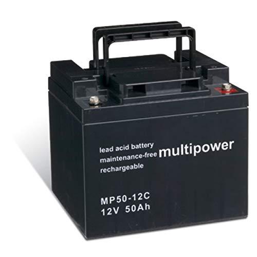 akku-net Bleiakku (multipower) für Elektrorollstuhl Meyra Ortopedia Cityliner 410+ zyklenfest, 12V, Lead-Acid