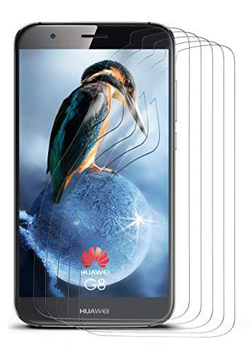 moex 5X Huawei G8 | Schutzfolie Klar Bildschirm Schutz [Crystal-Clear] Screen Protector Display Handy-Folie Dünn Bildschirmschutz-Folie für Huawei G8/G8X Bildschirmfolie