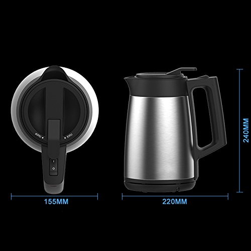 Kettle FEIFEI Electric Stainless Steel Stainless Steel Color Three Layers Of Anti-hot 1800W 1.7L Separable Base Automatic Power Off Insulation Home  Travel Easy to move