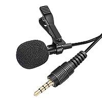 LeobooneMini Lavalier Mic Tie Clip Microphones Smart Phone Recording PC Clip-on Lapel Support Speaking Singing Speech High Sensitivity