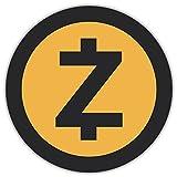 SkyBug Zcash Cryptocurrency Icon Bumper Sticker Vinyl Art Decal for Car Truck Van Window Bike Laptop