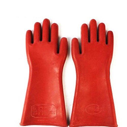 12KV Hochdruck-Gummi isolierte Handschuhe Hochspannungs-Elektriker leben Strom leben Betrieb (Handschuhe Isolierte)