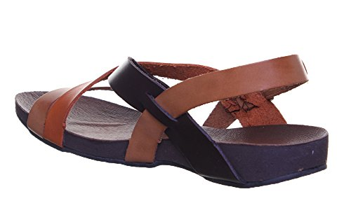 Justin Reece  7060, Sandales pour femme Brown Orange GF1